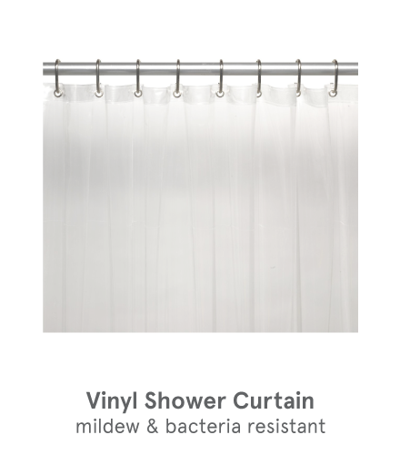 Zogics Vinyl Locker Room Shower Curtain